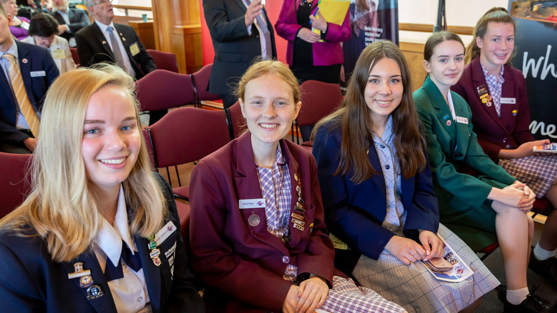 Winning 2018 students at Parliament House Canberra