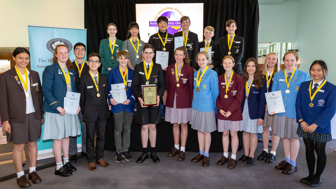 group photo of 2018 National winners in Canberra