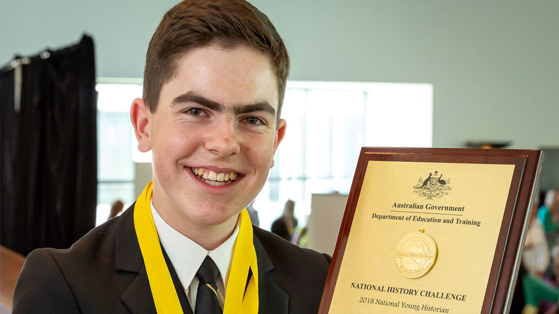 2018 National Young Historian James Tyers